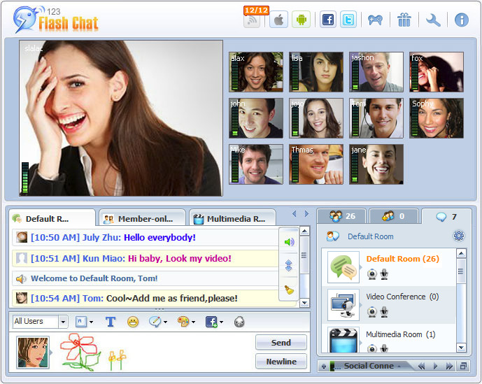 123 Flash Chat 9 9 Free Download, Linux, Windows, Android, MacOS X